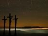 Drei Kreuz bei Nacht auf dem Kreuzberg